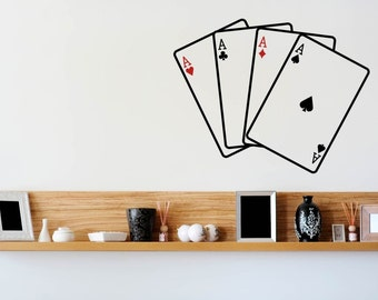 Four Aces Cards Poker Game Wall Decal