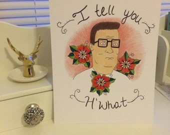 King of the Hill Hank Hill Print