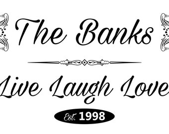 """Customized Live Laugh Love Family 
