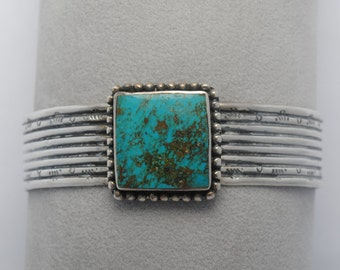 Native american cuff bracelet and sterling silver