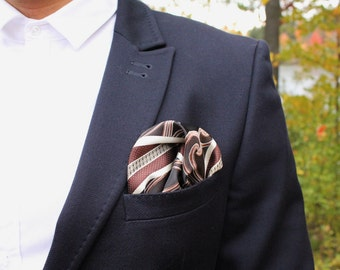 CLEARANCE 25% OFF! Silk Pocket Square. Mens gift. Handmade Handkerchief.