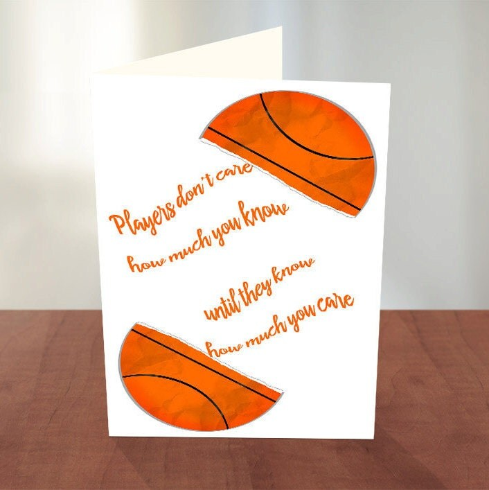 basketball coach thank you card inspirational thank you coach