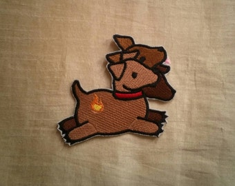 Sew-on patch - Cerberus mythical creature embroidery - 10 cm / 4 in