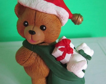 Christmas Avenue Teddy Bear Limited Edition 1996 First in a Series.