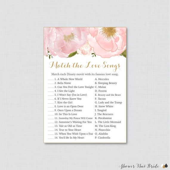 listing match disney love songs bridal