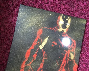 Iron Man artwork stencil Marvel