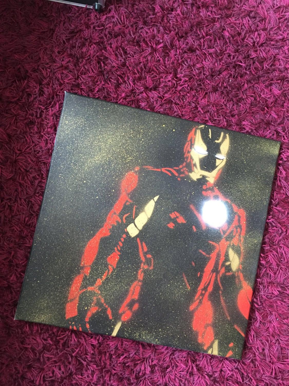Favori Toile Iron Man Artwork pochoir Marvel WO25