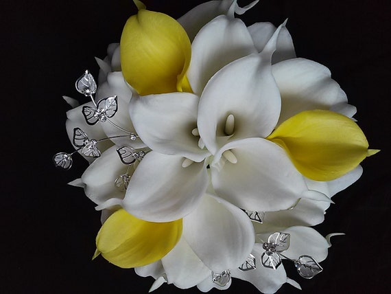 yellow calla lily wedding bouquet yellow calla bridal bouquet yellow and by 1514