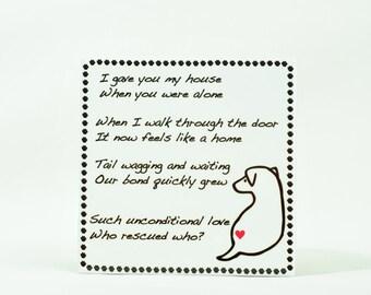 Decorative Rescue Dog Tile