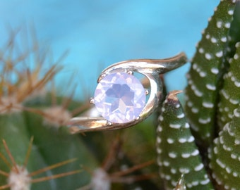 Lavender Moonstone Sterling Silver Ring