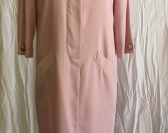 Vintage Straight Dress in Pale Pink 60's