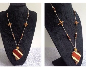 Wooden Heart Long Necklace
