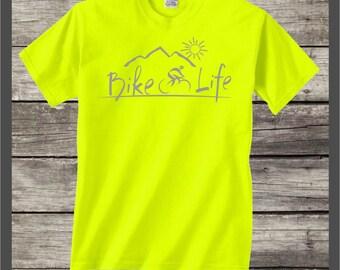 Bike Life t-shirt #079-SG bicycle,mountain biking,bicycle tee shirt camping,outdoors,fun,country,camper,road biking gifts,cyclist shirt gift