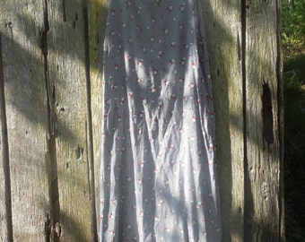Vintage 90s Grunge Maxi Long Dress Black White micro hounds tooth and floral print by Hysteria Size Large Rayon