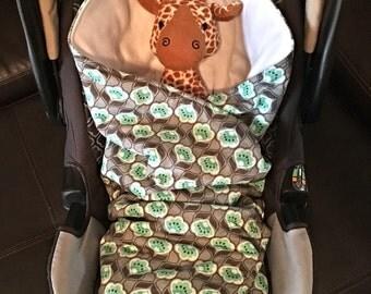 CUSTOM - SewPerfect Car Seat Swaddler / Car Seat Blanket / Stroller Blanket / Stroller Swaddler