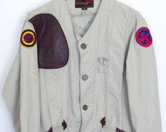 Size 44 10 X Mfg Co 1960 S Vtg Khaki Cotton Shooting Jacket