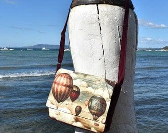 Montreux Balloons Print Messenger Handbag