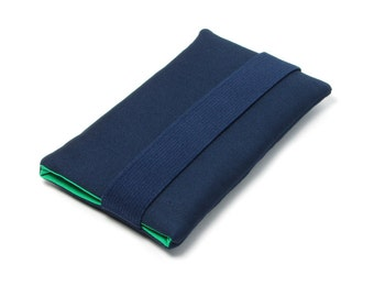 Iphone SE Case, Iphone 6s Case, Sleeve Iphone 7 -  Navy Blue, Green, Fabric