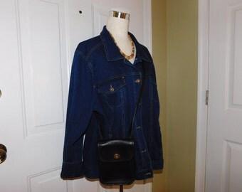 COACH~Black Leather Crossbody Shoulder Bag Purse
