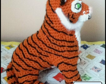 PDF Pattern for Crochet Amigurumi Striped Tiger Doll