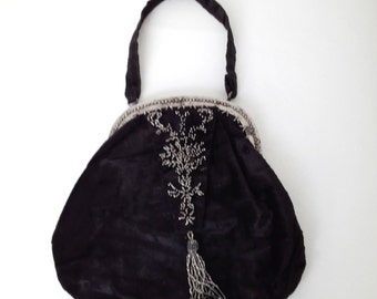 vintage french velvet purse or bag