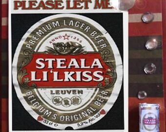 MisFitz Stella Artois 'Steal a L'il Kiss' Greeting Card