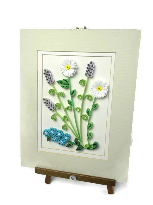 Floral Wall Hanging Flowers Home Decor Quilling Wall