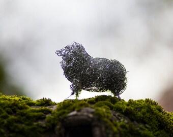 Animal Wire Sculpture, Sheep Art, Animal Figurine, Sheep Figure, Wire Decoration, Animal Home Decor, Wire Sculpture Art, Black Sheep Art