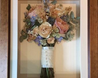 3D Preserved Dried Bouquet Framed Wedding Keepsake