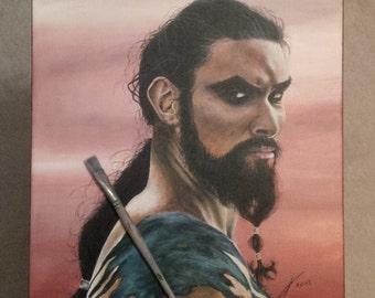 Khal Drogo - Print of Original Painting