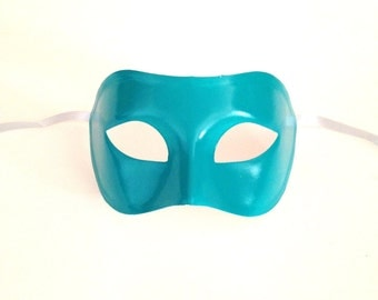 """Turquoise Masquerade """"Colombina"""" Mask"""
