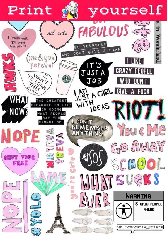 Peaceful image regarding printable stickers tumblr