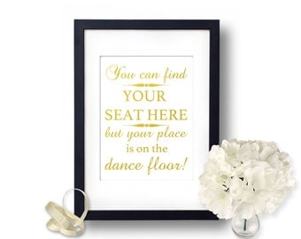 Wedding signs, Find your seat sign, Gold Wedding, wedding seating sign, Wedding reception, wedding signage