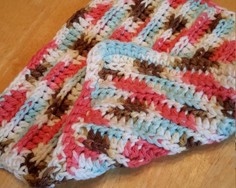 Cloth cotton MOP, great MOP crocheted, washcloth, dishes, linens, colorful dishcloth
