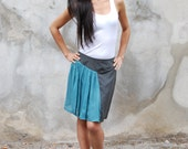Gray and blue skirt in pl...