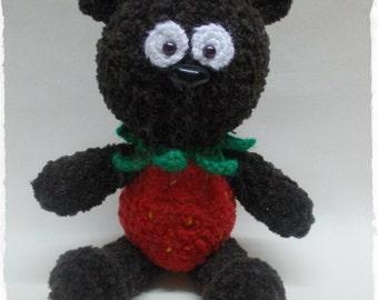 Strawberry Bear Amigurumi Crochet Toy