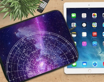 Galaxy Ipad Sleeve, Stars Neoprene Tablet Sleeve, Star Chart Ipad Sleeve, Ipad 2/3/4, Ipad Air Sleeve, Tablet Travel Case