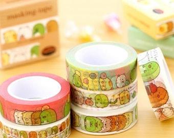SUMIKKO GURASHI Washi Tape - Cute Japanese Kawaii San-X | Adhesive Diary Planner Stickers | DIY Sticker Label | Stationery | Accessories