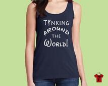 disney shirts / disney tank top / epcot shirt / tinkerbell shirt / tinker bell / drinking around the world shirt / epcot food and wine shirt
