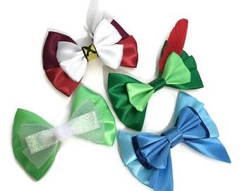 Peter Pan Inspired Captain Hook Peter Pan Tinkerbell Wendy Character Hair Bows