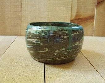 Hand Thrown Marbled Planter, Indoor or Outdoor Planter Pot