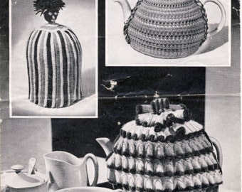 1940s Bestway 1609 Tea Cosies Knitting Pattern - Golliwog Tea Cosy (COPY)