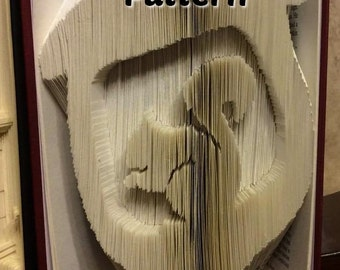 Acorn w Squirrel - Folded Book Art Pattern - Combination - Instant Download!