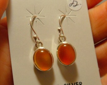 CARNELIAN EARRINGS Sterling Silver
