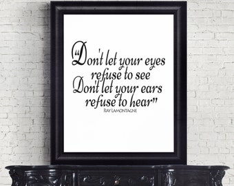Hold You in My Arms, Ray LaMontagne, Song Lyrics, Digital Downloads, Printable Art, Lyric Artrouble Album, Wall Art, R, Tefuse to See