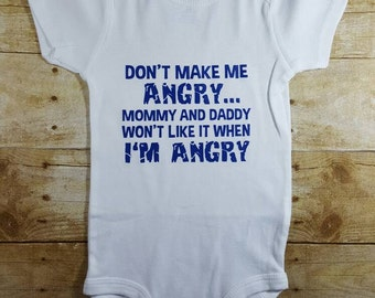 Hulk baby don't make me angry Funny Baby Gift Hip Baby Bodysuit