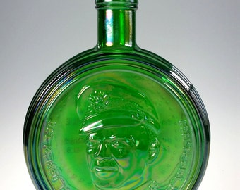Wheaton Nuline Carnival Glass Dwight Ike Eisenhower 1st Edition Decanter Bottle