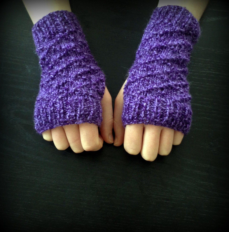 Knitting Pattern Fingerless Gloves PDF Instant Download Wrist