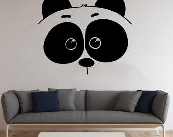 Panda Bear Wall Sticker Panda Vinyl Decal Cartoon Animals Vinyl Decals Wall Vinyl Decor /8jyf/