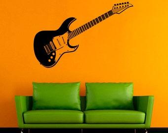 Musical Instrument Vinyl Decal Guitar Wall Sticker Music Stickers Wall Vinyl Decor /11qpi/